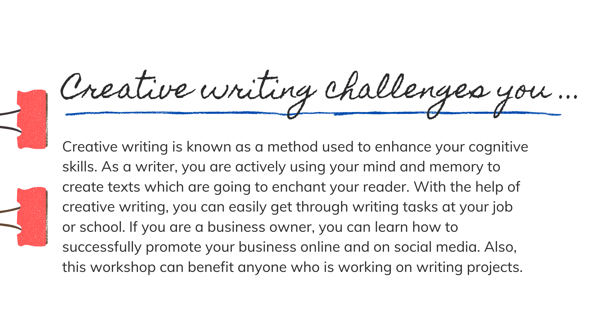 help with  creative writing online